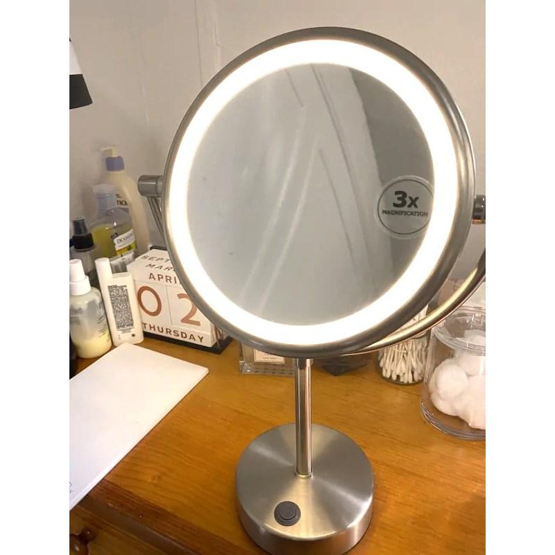 100% 정품 이케아 직수입 STORJORM 현대 북유럽 원형 LED 무드조명 거울