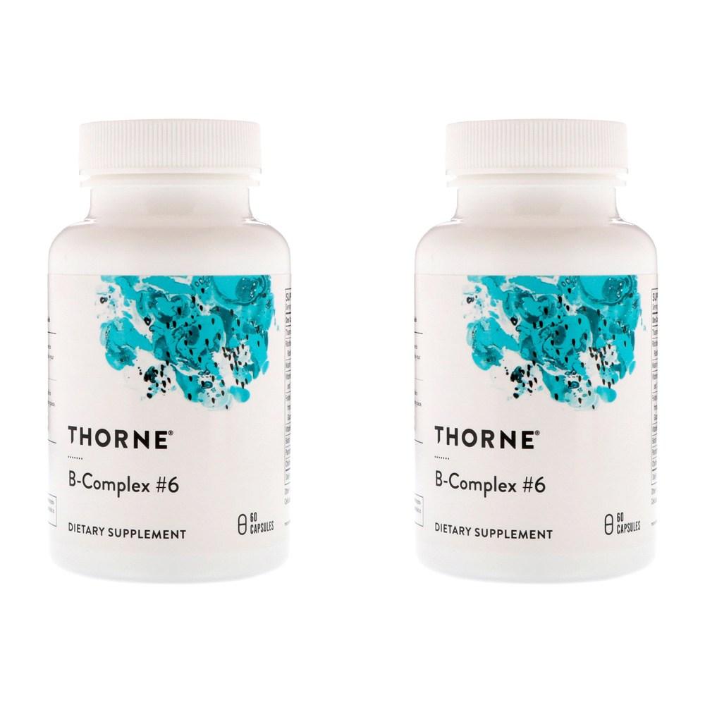 Thorne Research 비타민 B 복합체6 60정 2병, 선택, 상세설명참조