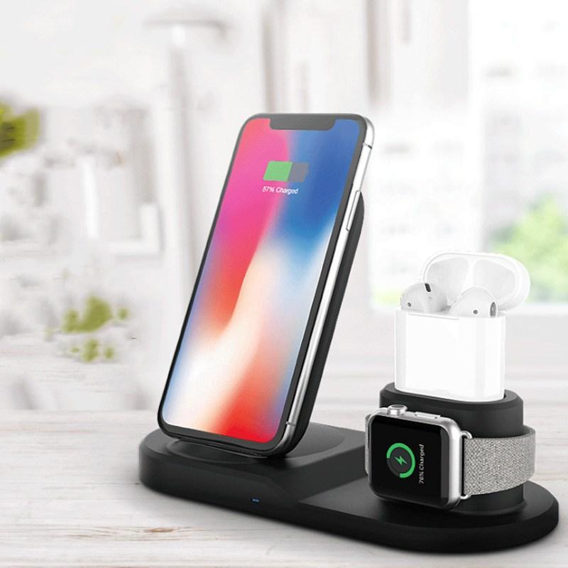 폴라도레 아이폰 갤럭시 애플워치 3IN1 고속 무선 충전기 +폴라도레사은품증정, 02-블랙