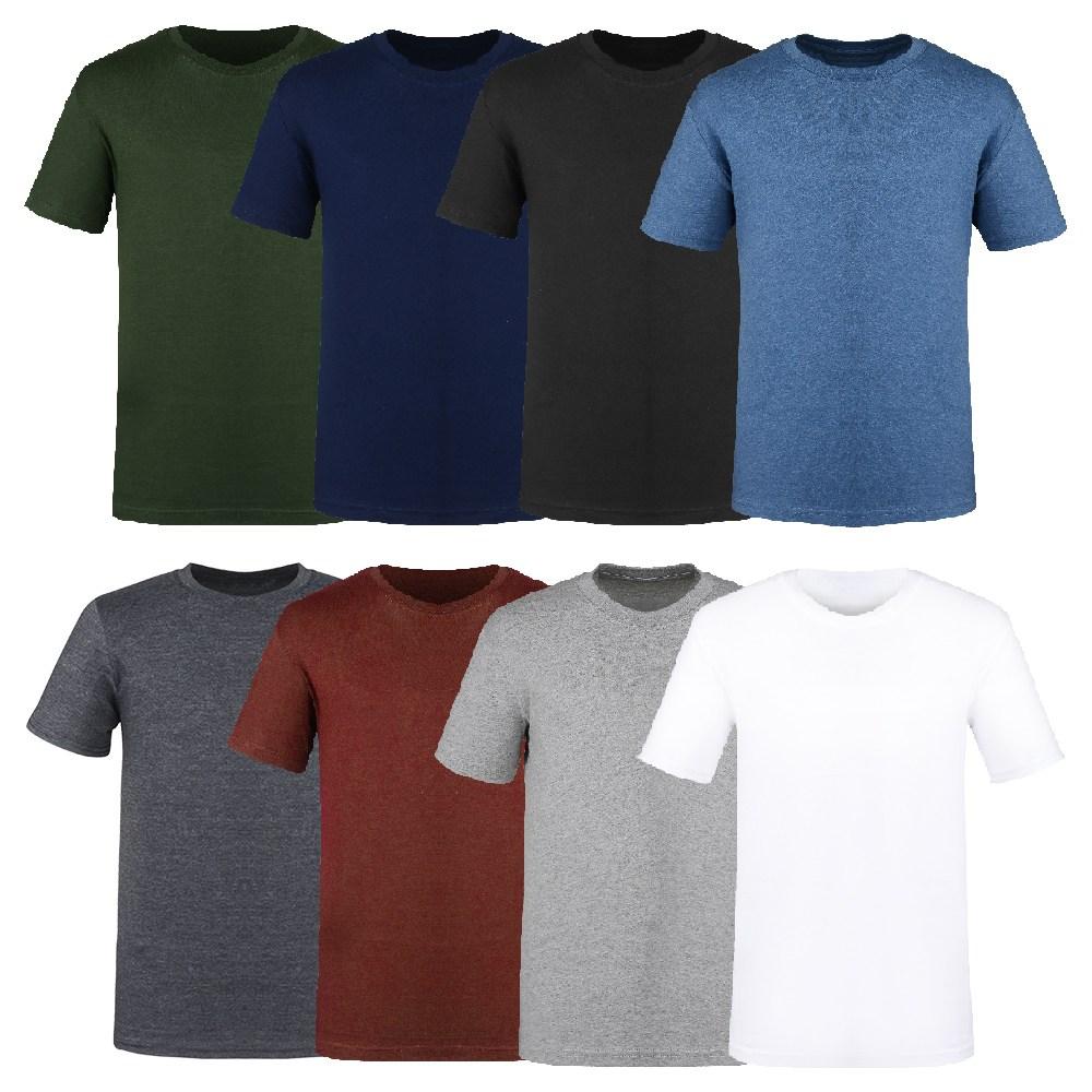 리셋 남녀공용 베이직 라운드 반팔 티셔츠