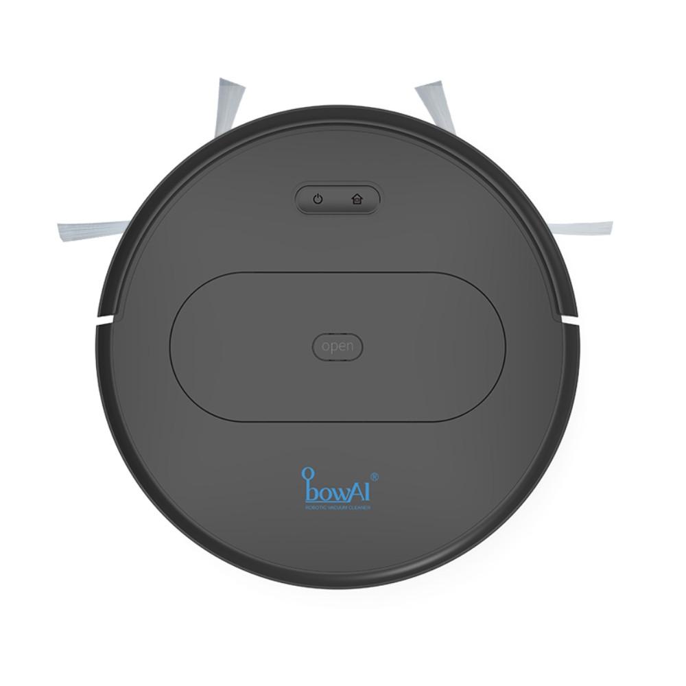스마트 청소 로봇 가정용 음소거 자동 게으른 청소 기계 청소 3-in-one 초박형 진공 청소기, 플래그십 [블랙] 기획 + APP 지능형 제어
