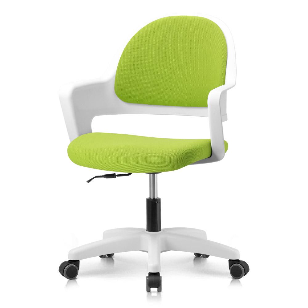 프리메이드 프로그 의자, 화이트바디_라임그린 패브릭
