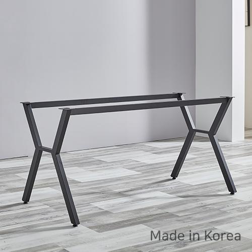 아네마름 콤비 철물다리 X자 식탁 다리 조립식 테이블 다리 국산 (상판별도구매), 콤비A, 블랙
