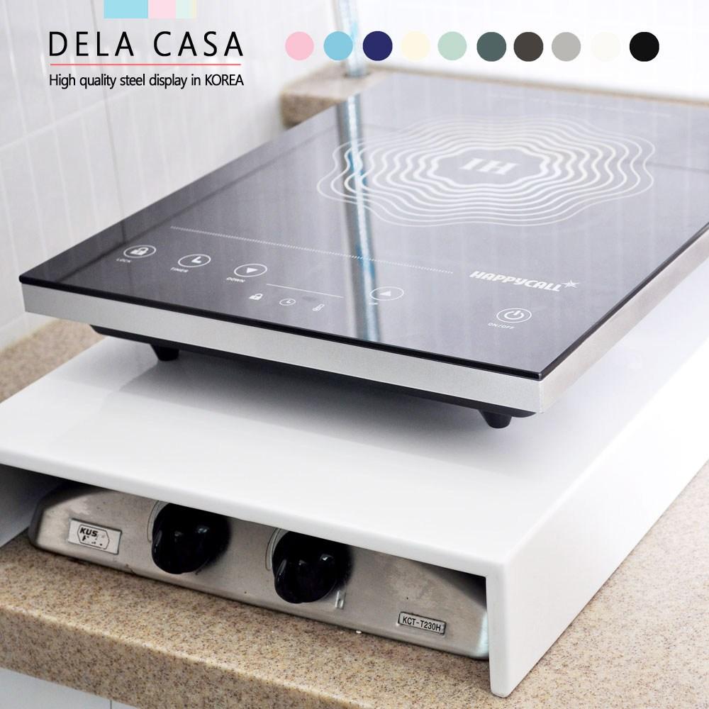 [디디지메이트]델라카사 가스렌지덮개 인덕션덮개, 1개, 2구덮개(소)블랙