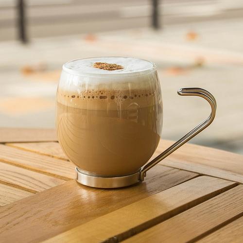 [바보사랑]Simax 내열 커피잔 (스텐핸들) 250ml (2P 4P), 잔4개