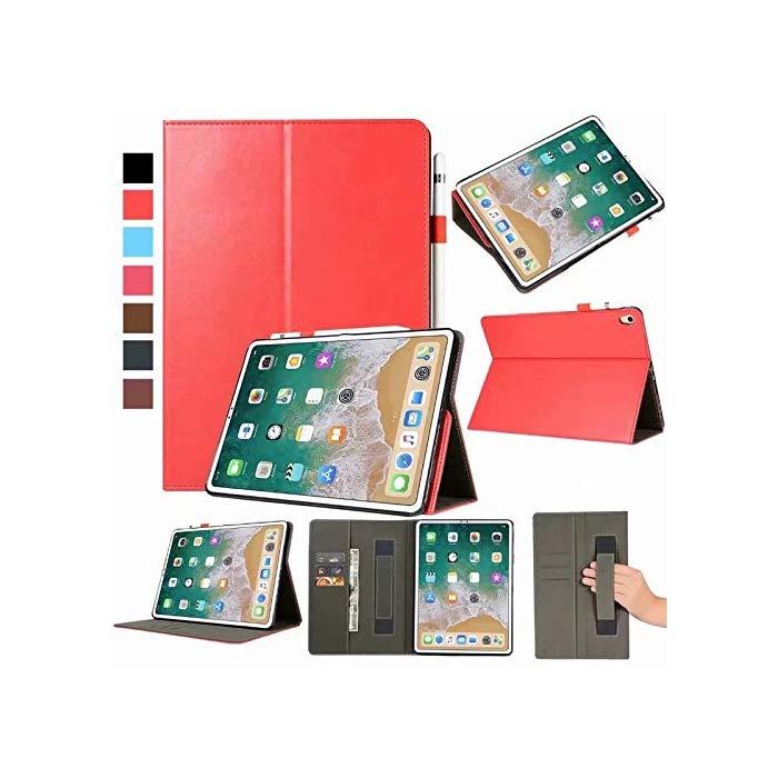 R-JUST 핸드 벨트 7 세대 iPad 10.2 인치 케이스 수첩 형 PU 커버 태블릿 한 손, 자세한 내용은 참조