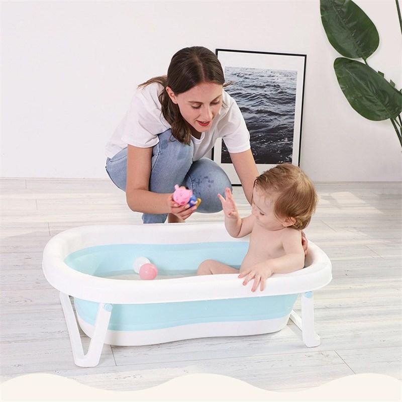 . 접이식 유아 아기욕조 신생아 욕조 넉넉한 크기 내구성 면세품, 로즈핑크-26-2020758071