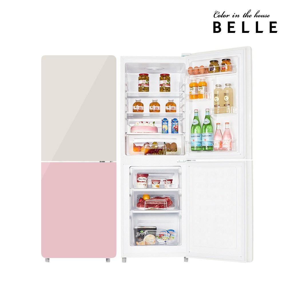 벨 레트로 글라스 소형 냉장고 W20CKBA 1등급 181L 상냉장 (POP 1920733223)