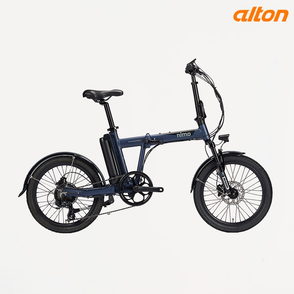 알톤스포츠 20년형 니모FD플러스2 접이식 전기자전거, 파스/스로틀겸용 - 베이지