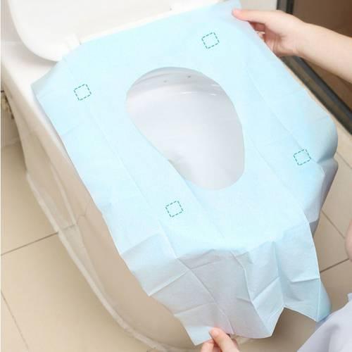 10 Pc 화장실 패드 휴대용 방수 일회용 화장실 패드 항균 변기 커버 매트 여, 상세내용참조