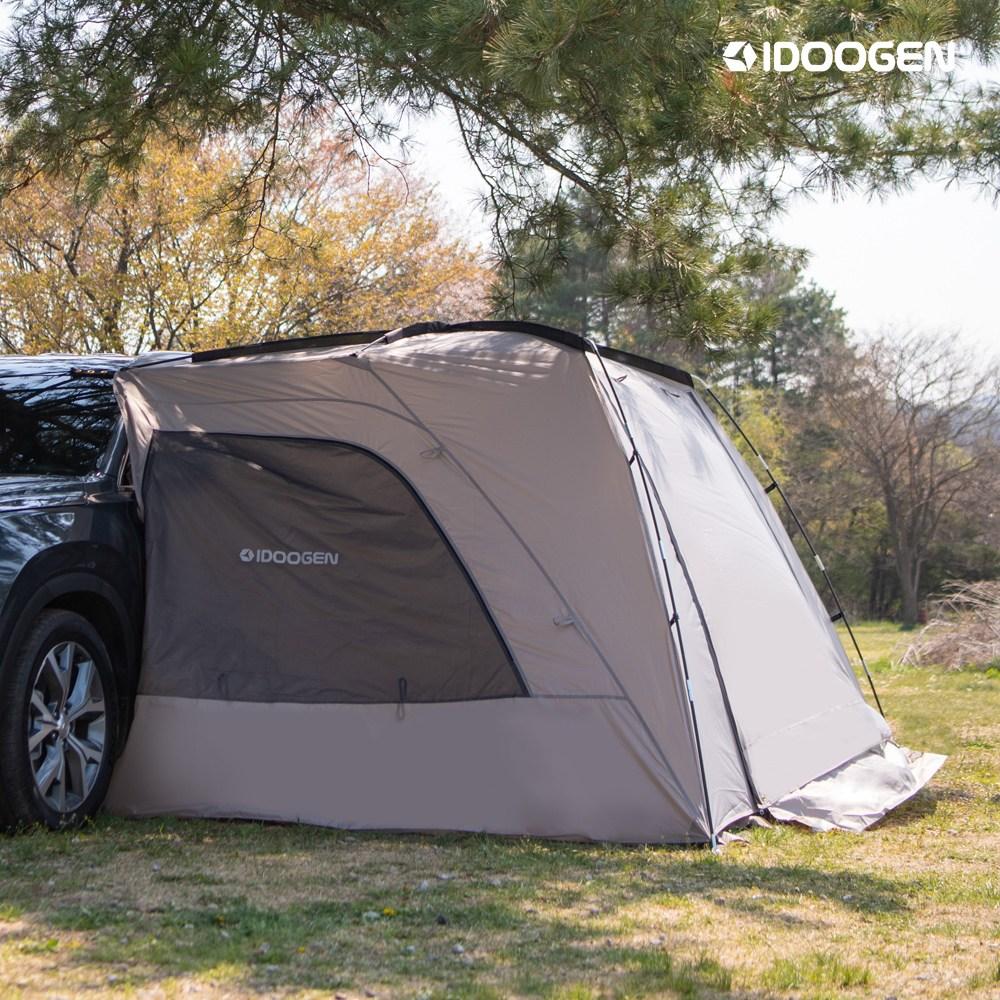 아이두젠 A1 차박텐트 차량용 캠핑 도킹텐트, 라이트그레이 중(170cm)