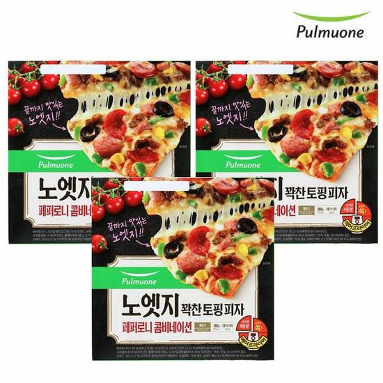 [K쇼핑][풀무원]노엣지 꽉찬토핑 피자 페퍼로니콤비네이션x3판세트, 단일상품
