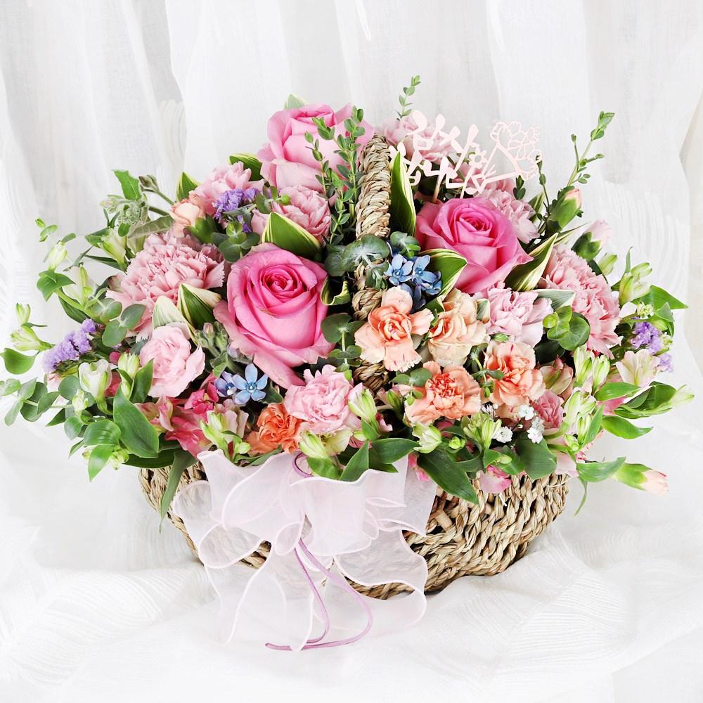 99플라워 2시간 당일 꽃배달서비스 꽃바구니 꽃다발 생화 장미 생일 꽃 선물, 05.[ST-A1799]핑크빛사랑