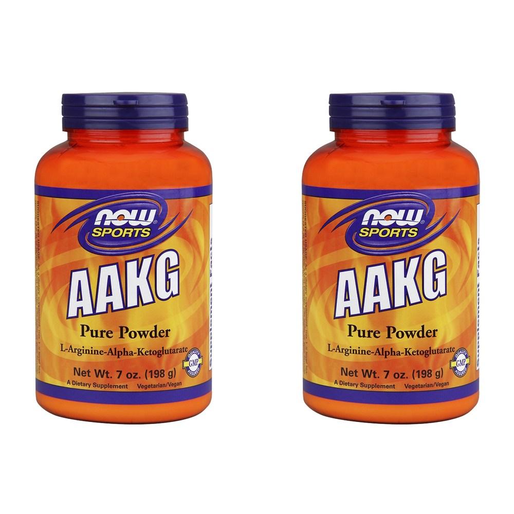 Now Foods Aakg 파우더, 198g, 2병