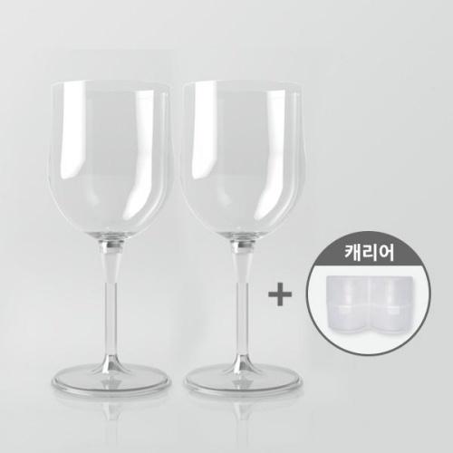 아웃도어 휴대용 캠핑 커플와인잔(2개) +캐리어세트 (와인오프너 사은품 증정)