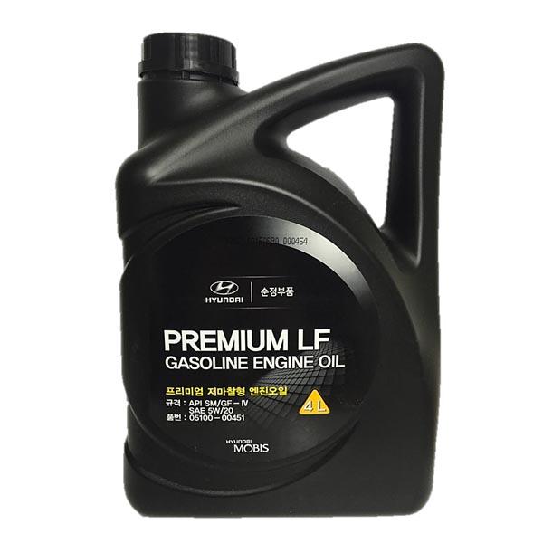 현대 LF 05100-00451 4L 가솔린 엔진오일, 1개, 현대 LF 저마찰엔진오일(05100-00451)_4L
