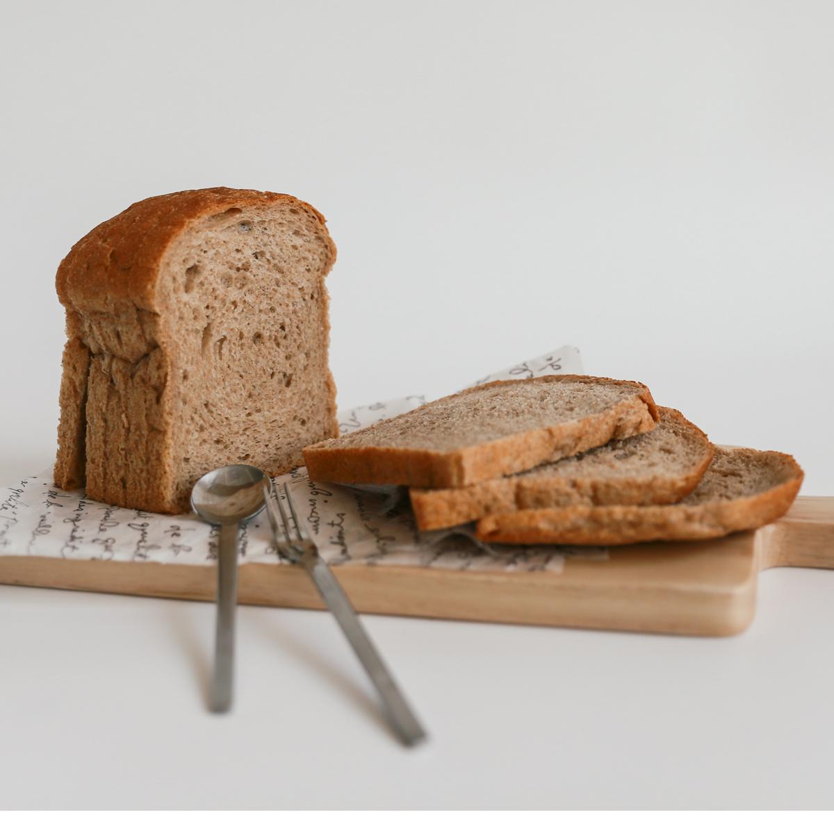 [빛가을르빵] 우리밀통밀빵 통밀100%식빵 (천연발효빵 무설탕 무첨가제 정직한빵), 300g, 1개