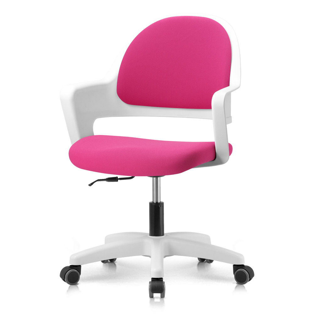 프리메이드 프로그 의자, 화이트바디_핫핑크 패브릭