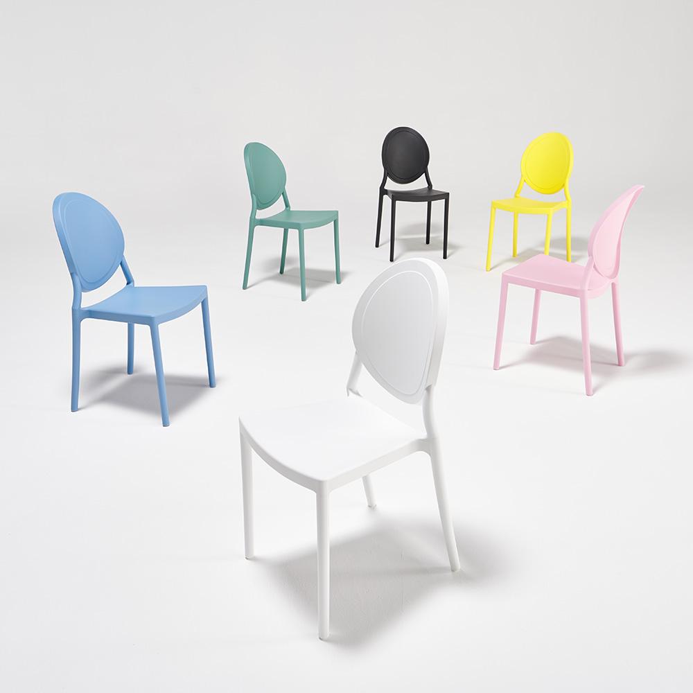 하늘창가구 AZP1 카페 인테리어 디자인 식탁의자, 옐로우