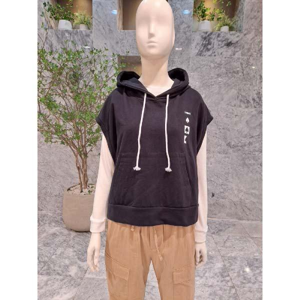 [현대백화점][꾸즈] (SM496V1) 피그먼트조끼후드 티셔츠