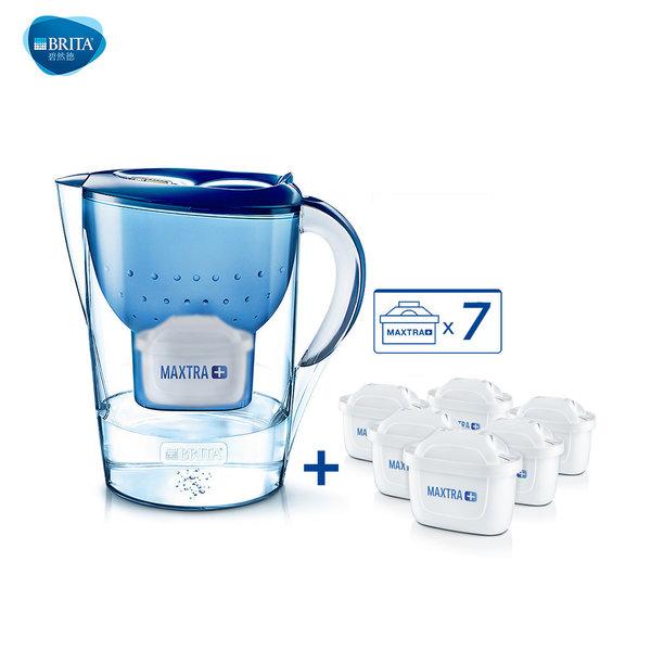 브리타 마렐라 정수기 정수기필터 정품, 정수기 3.5L 블루 + 필터 6개(총 7개)