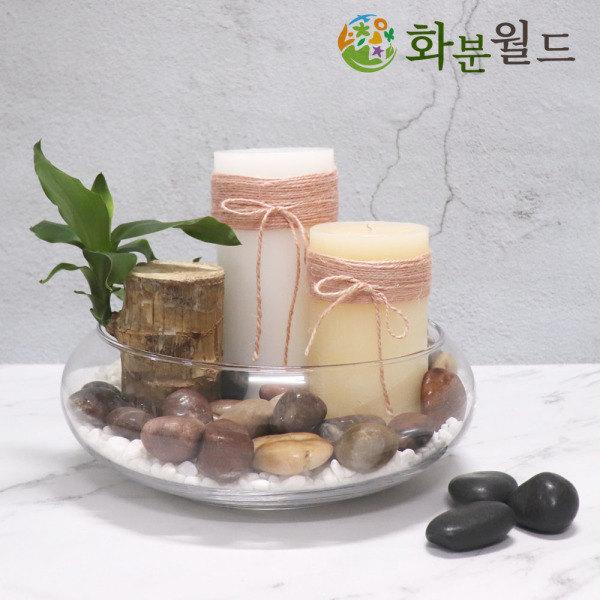 [화분월드] 우화석(강자갈) 광택 대포장 화분돌 정원꾸미기 정원돌, 타입:우화석(광택)(검정)(20kg)