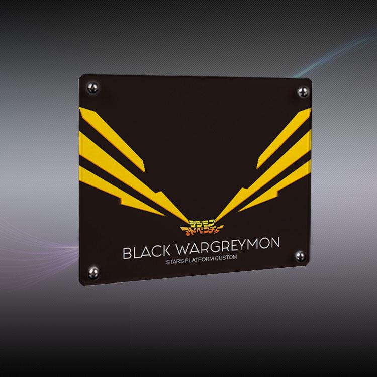 XCF 워그레이몬 블랙그레이몬 메탈 가루루몬 아크릴베이스, 블랙워그레이몬A