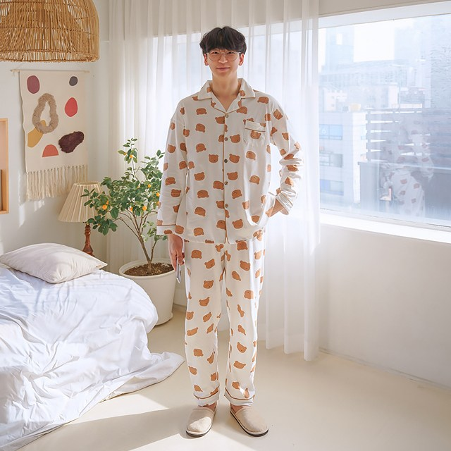말랑마쥬 쵸코 곰돌이 커플잠옷세트
