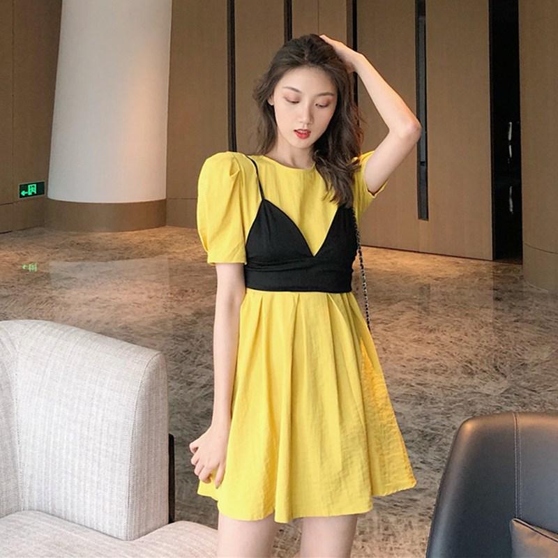 캣츠미 여름뷔스티에원피스 여성의류 여신 무드 옷 클래식 스윗 끈나시 투수영복