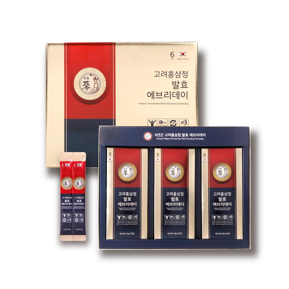 풍년보감 고려홍삼정 6년근 발효 에브리데이 + 쇼핑백, 10g, 30개입