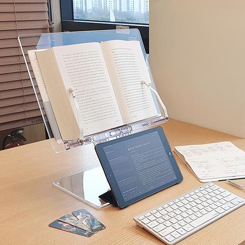 리딩디자인 [리딩독서대] 높이 각도 조절 투명 아크릴 공시생 독서대