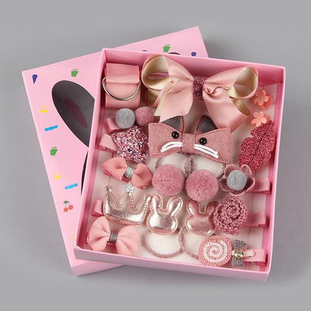 올웨이즈썸머 데일리 유아헤어핀 18종 세트 H001 아동머리끈 여아머리핀 어린이집생일선물