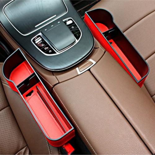 2개 아르띠콜로 차량 사이드 수납 포켓 자동차 컵홀더 거치대 (운전석+조수석 세트), [1+1] 레드 운전석+조수석 세트