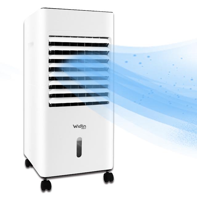 위들린 에어쿨러 냉풍기 이동식 에어컨 냉방기 얼음 날개없는, 1. 위들린 에어쿨러냉풍기+LCD시계
