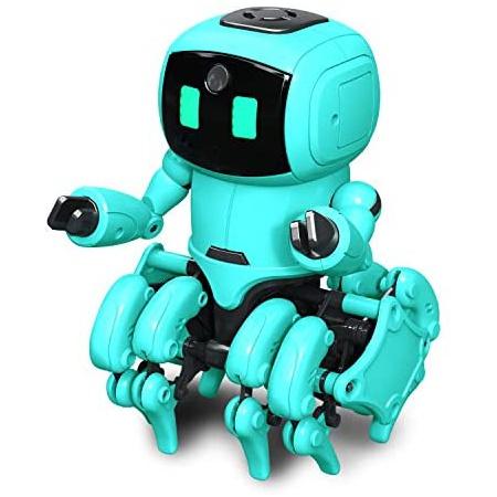 OWI KikoRobot.962 적외선 센서 및 인공 지능 기능을 갖춘 DIY 로봇 키트 두 가지 재생 모드 I R을 사, One Color