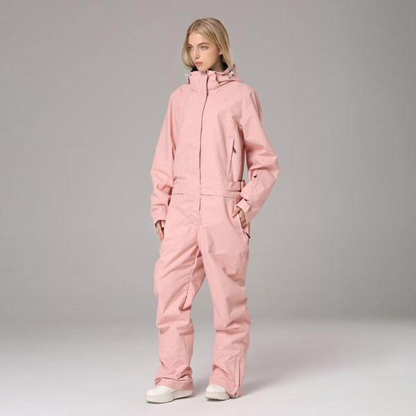 점프수트보드복 일체형 스키복 커플 스노보드복 스노우 여자 핑크
