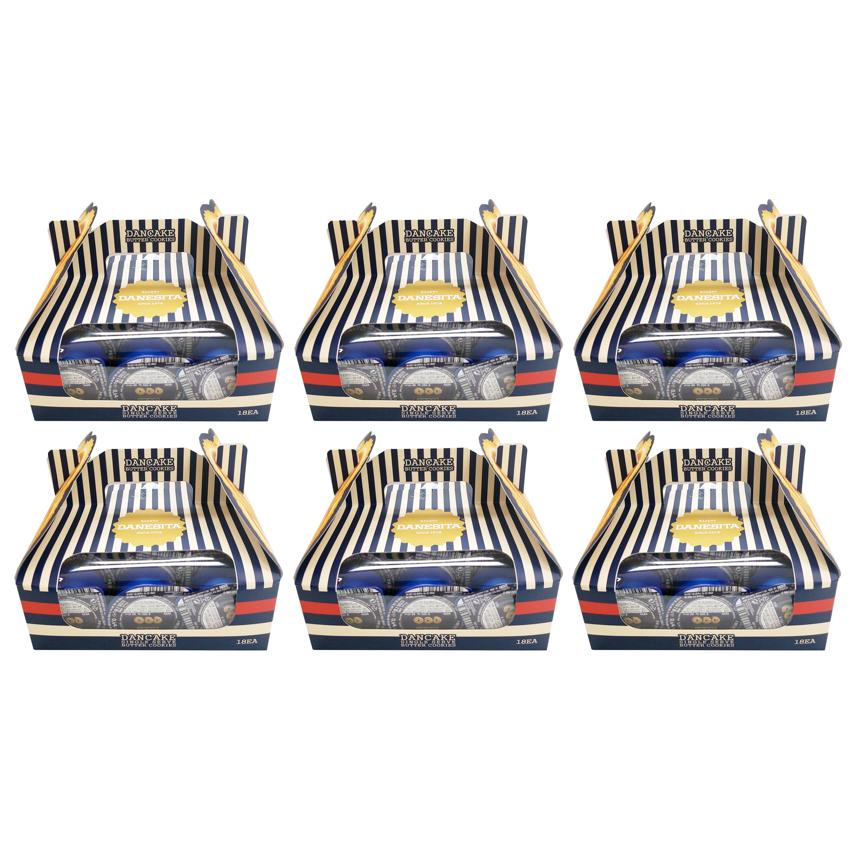 [DANCAKE]포켓쿠키 댄케이크 싱글서브버터쿠키 324g 6개, 6박스