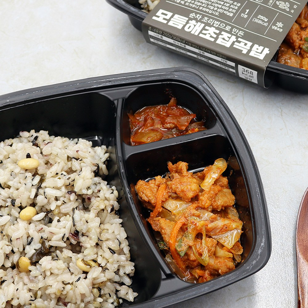 [하이미소] 모듬해초잡곡밥(하이미+매운주물럭+김치볶음), 10팩, 250g