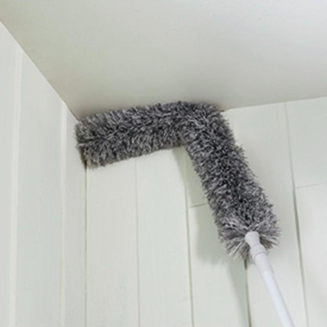 람스 봉이 길어 서서쓰는 거미줄제거 천장 간판 계단 먼지제거 청소솔, 1개, 거미줄제거솔