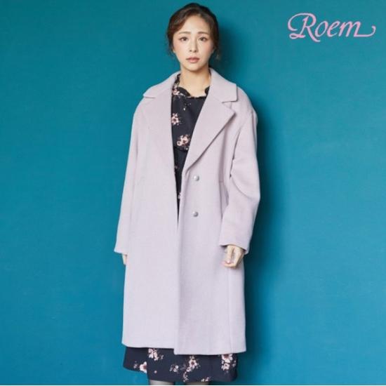 로엠 로엠 WY 울90 오버핏 자켓형코트 - RMJH84TR23_25_I9A6