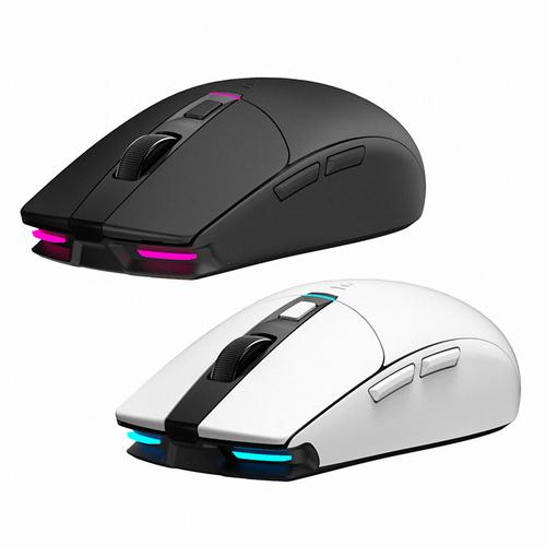 ABKO HACKER A250W 3335 RGB 무선 게이밍 마우스 (블랙 화이트) [당일발송], 화이트, 단일상품