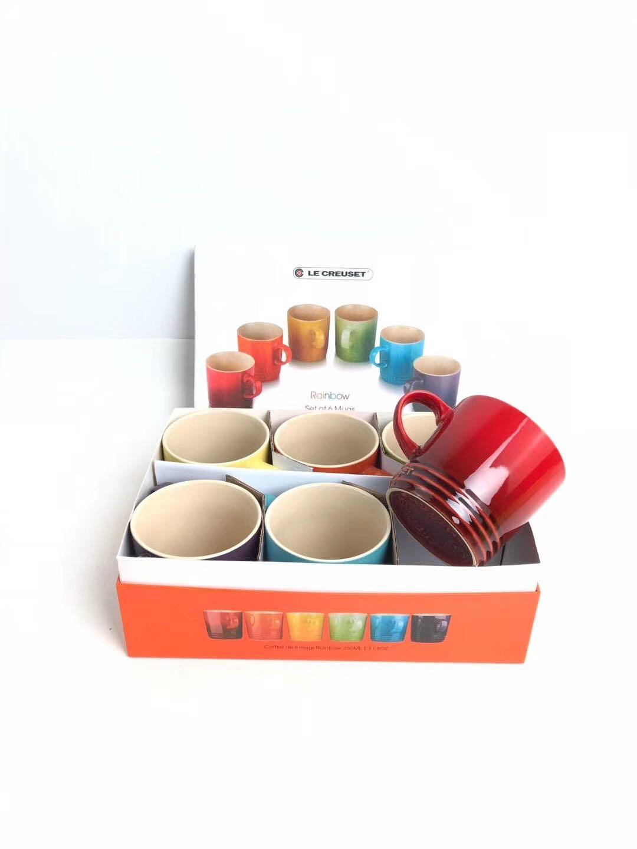 르쿠르제 머그 마시멜로 레인보우 컵 6종세트 집들이선물, 레인보우 머그컵