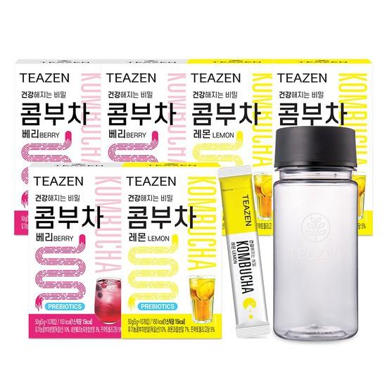 [MLC]티젠 콤부차 레몬 3박스+베리 3박스/보틀 증정