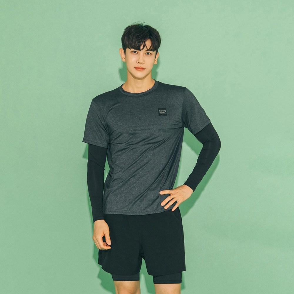 헤링본 남자 레깅스 일체형 래쉬가드팬츠 수영복 보드숏 비치웨어 반바지 해변 AC900M