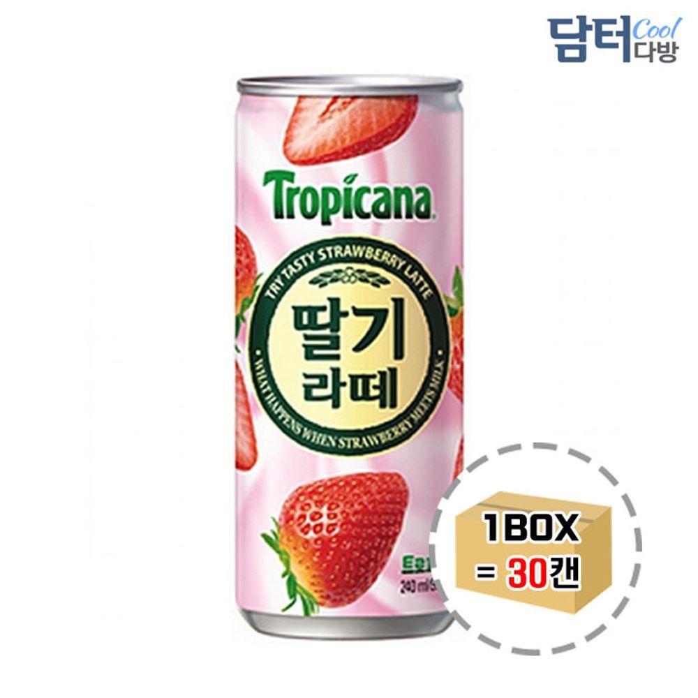 트로피카나 딸기라떼 240ml (30캔), 1
