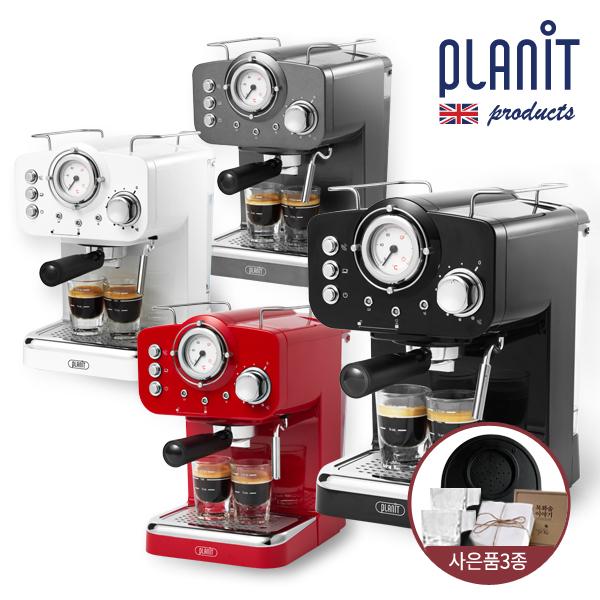 플랜잇 [사은품3종] 홈카페프레소 가정용 에스프레소 커피머신 PCM-F15, 커피머신_제트블랙