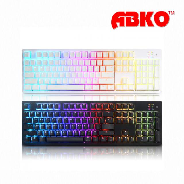 ABKO HACKER K995P V3 RGB PBT 무접점 키보드(화이트), 단품, 단품