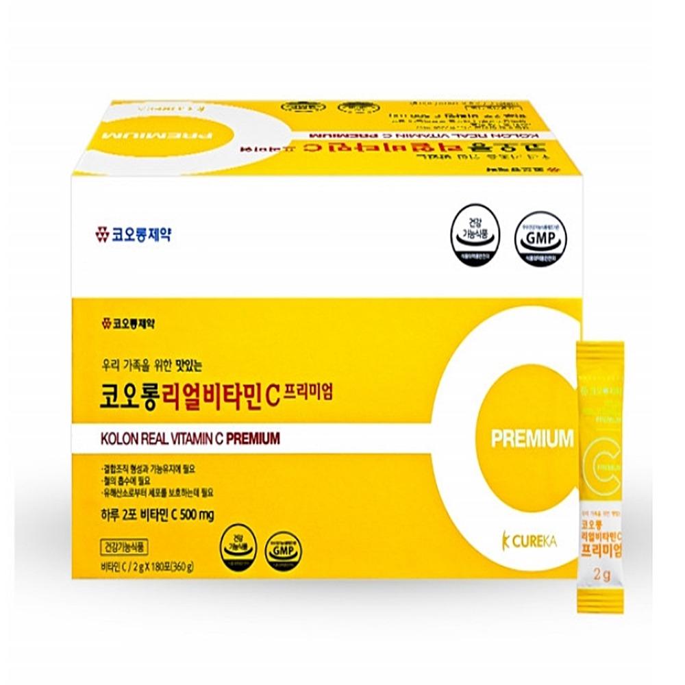 코오롱제약 리얼비타민C 분말 고용량 180포, 2g x 180포