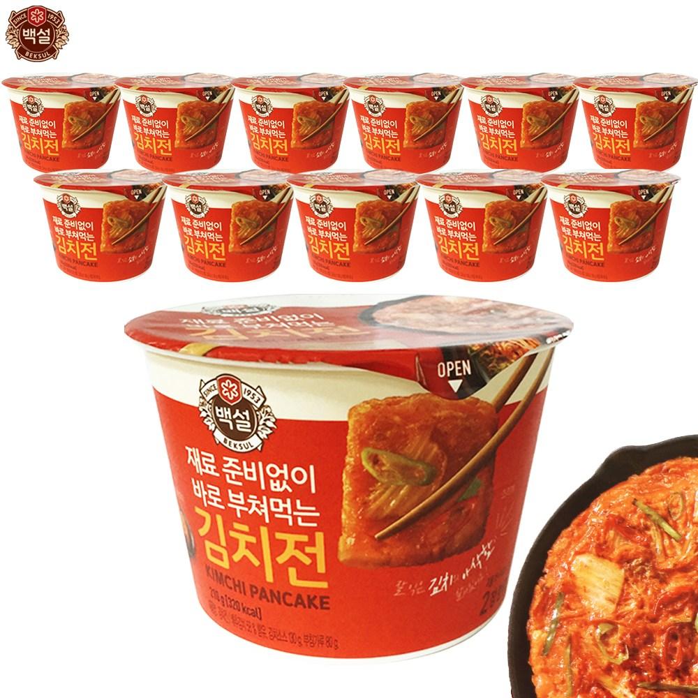 예이니식품 CJ 백설 즉석 김치전 12개(210gx12개) 믹스감자해물녹두, 12개, 210g