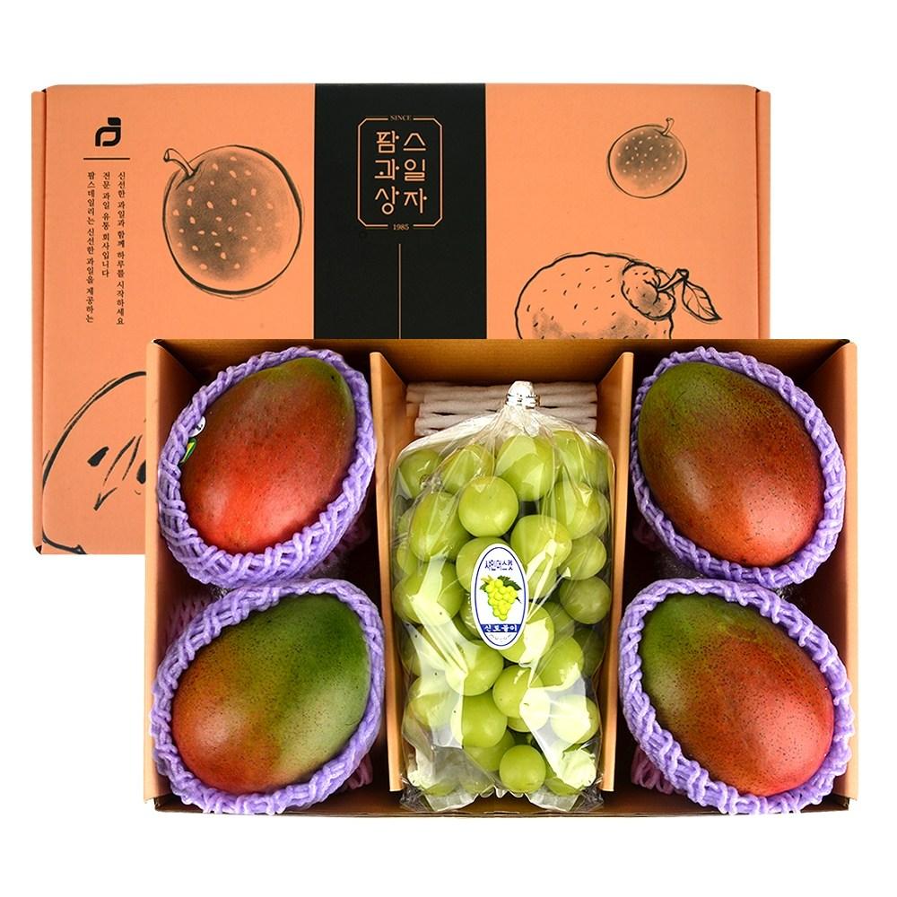 [팜스데일리] 추석 설 명절 프리미엄 과일선물세트 애플망고+샤인머스켓